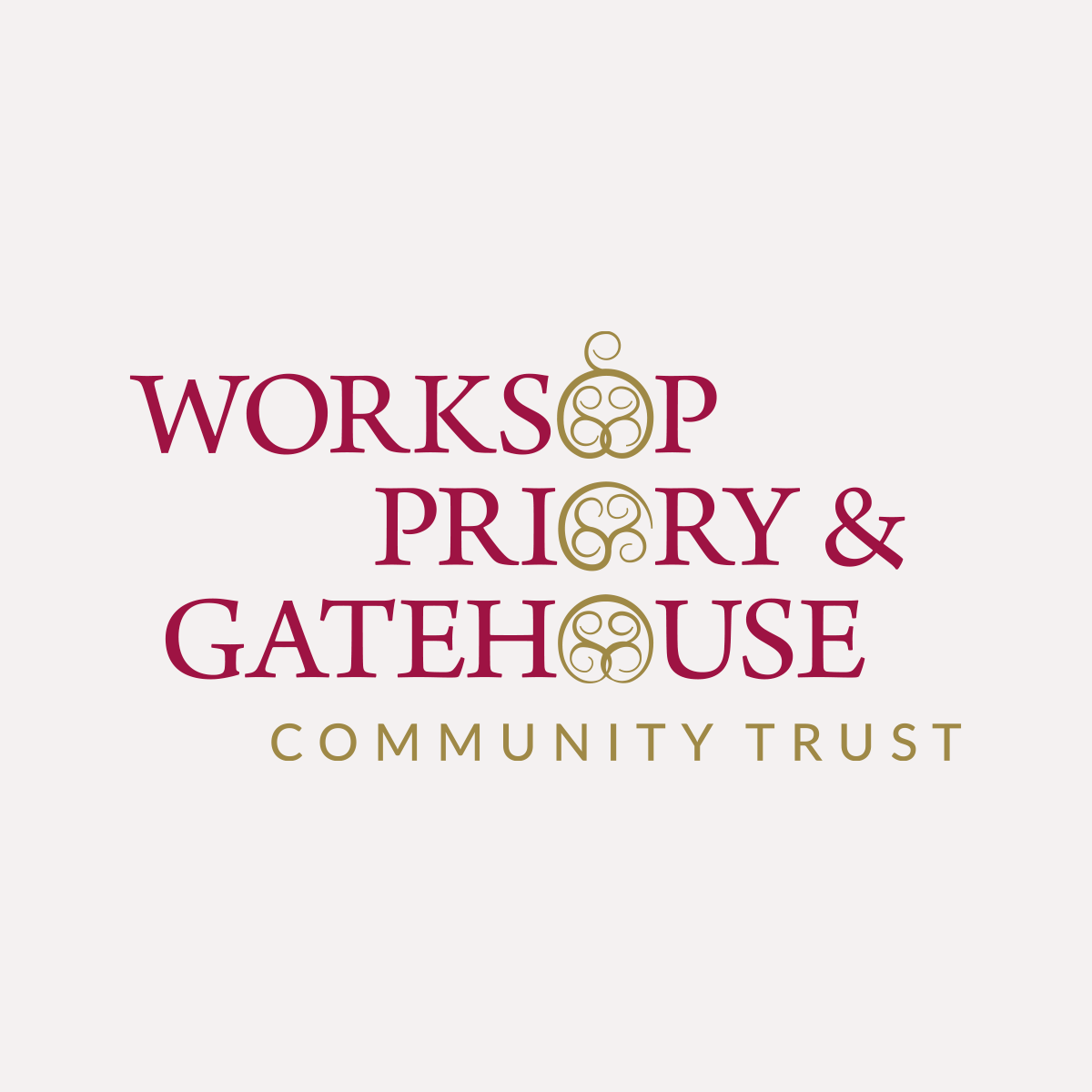 Identity for Worksop Priory & Gatehouse Community Trust, WP&GCT logo