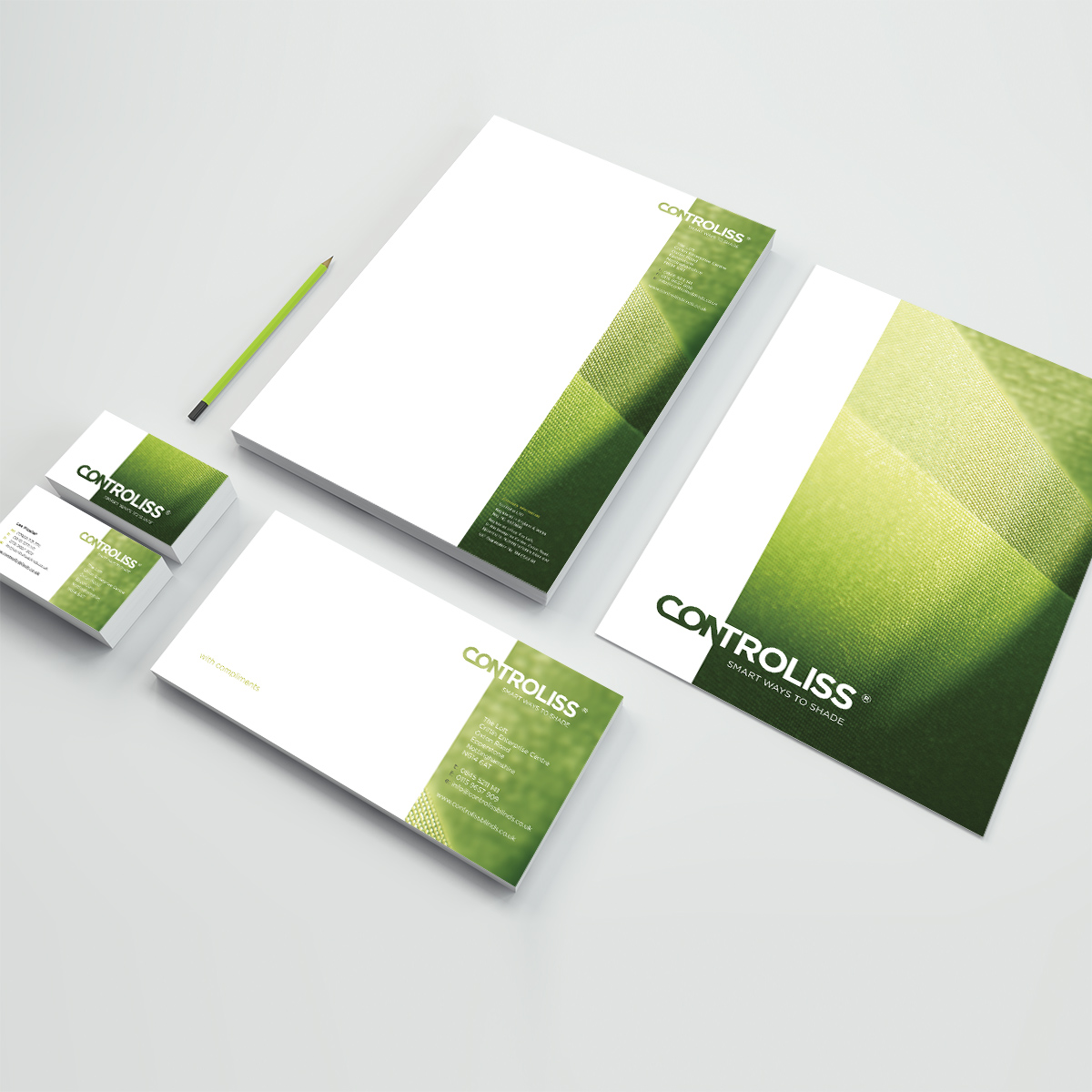 Controliss corporate stationery suite
