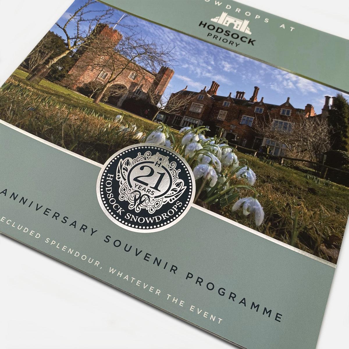 Hodsock Priory Snowdrops event 21st Anniversary souvenir