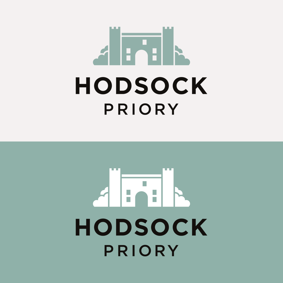 Identity for Hodsock Priory, Hodsock Priory logo