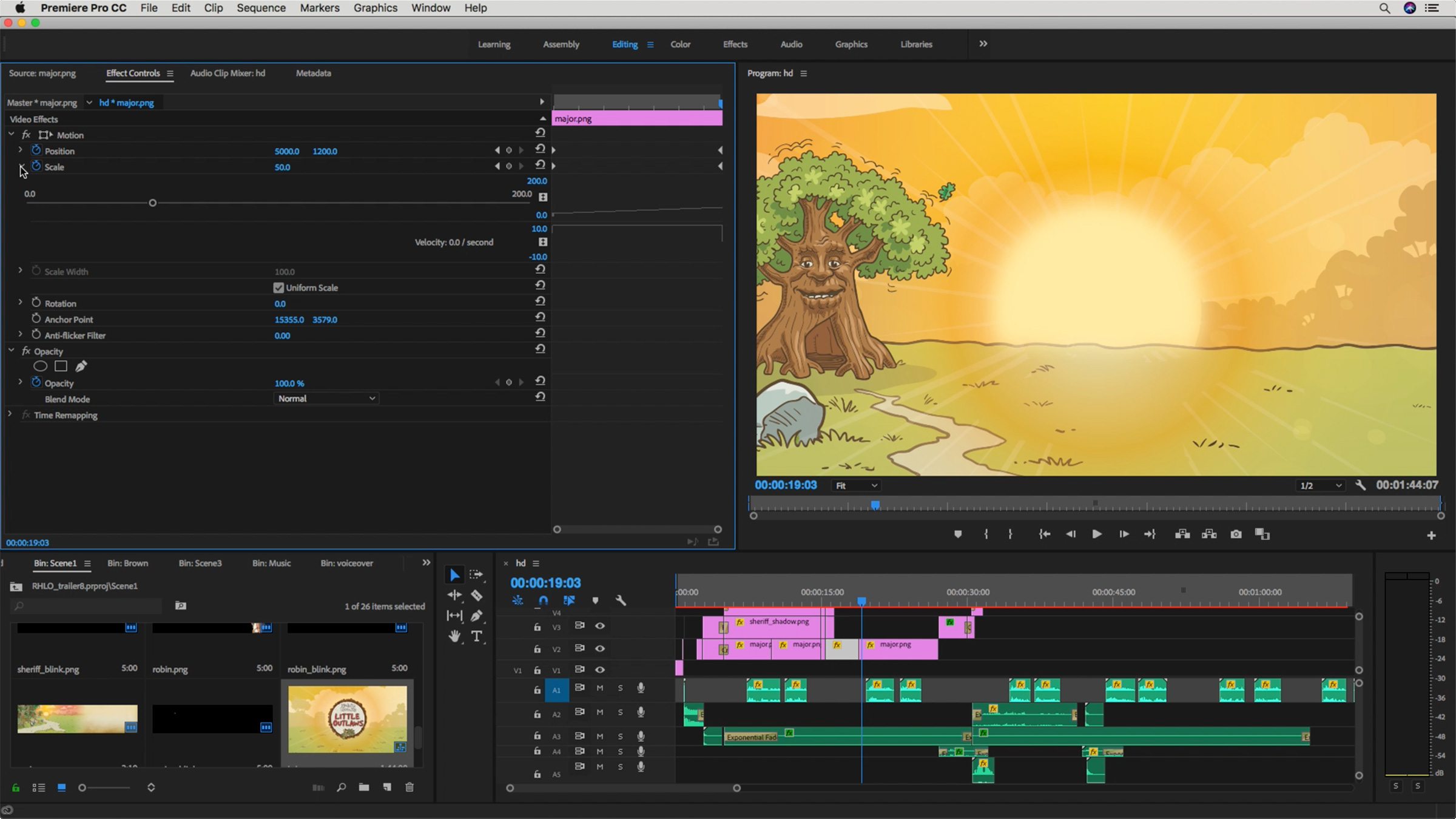 Screen grab during making of the Robin Hood's Little Outlaws' video trailer