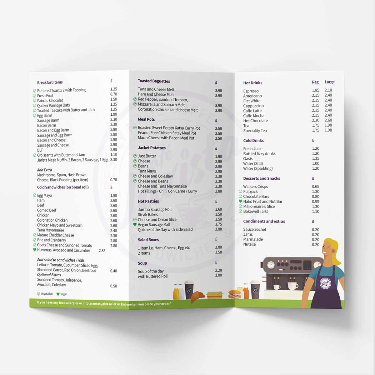 Café Jarista menu
