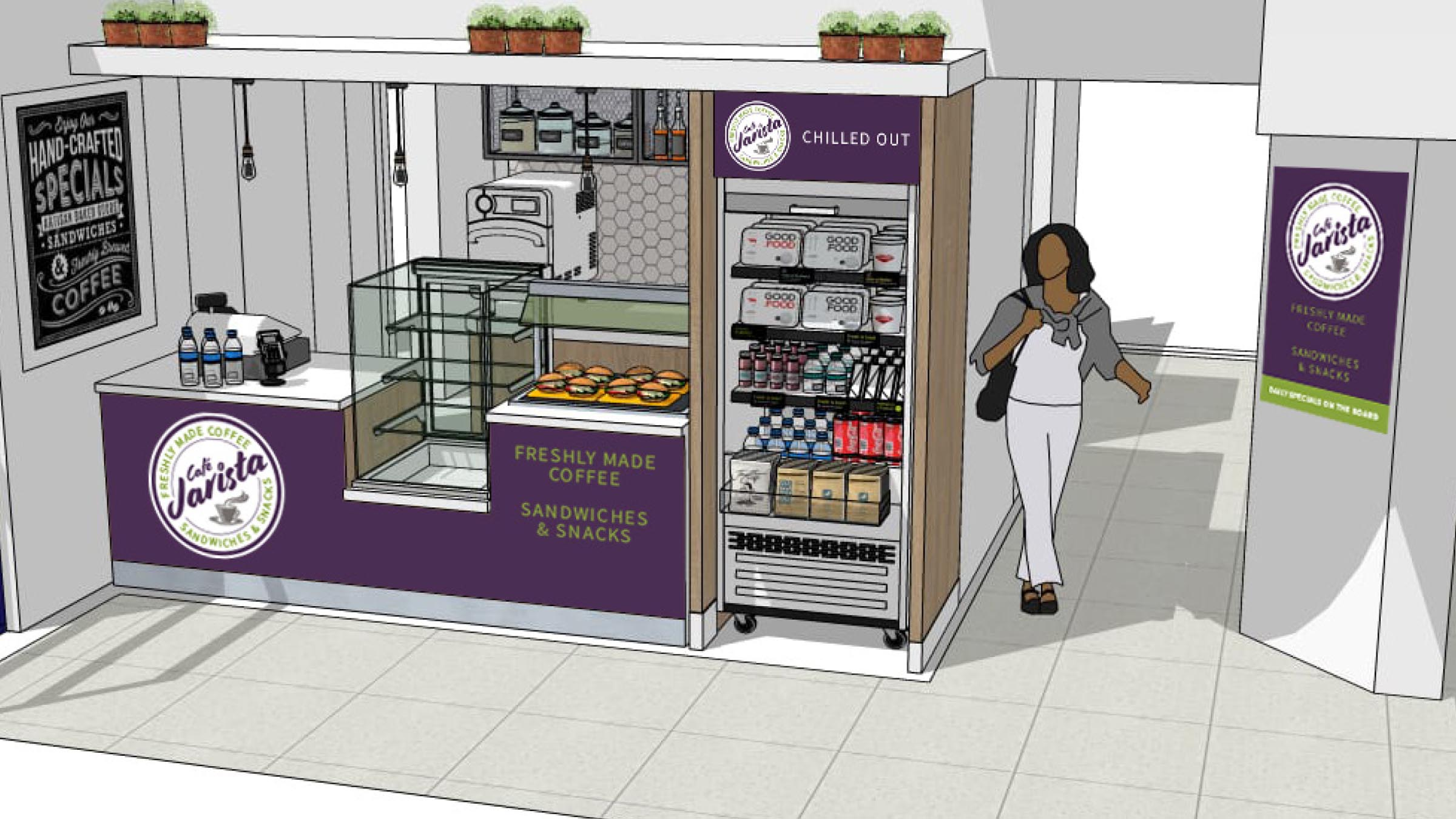 Café Jarista store visualisation illustration