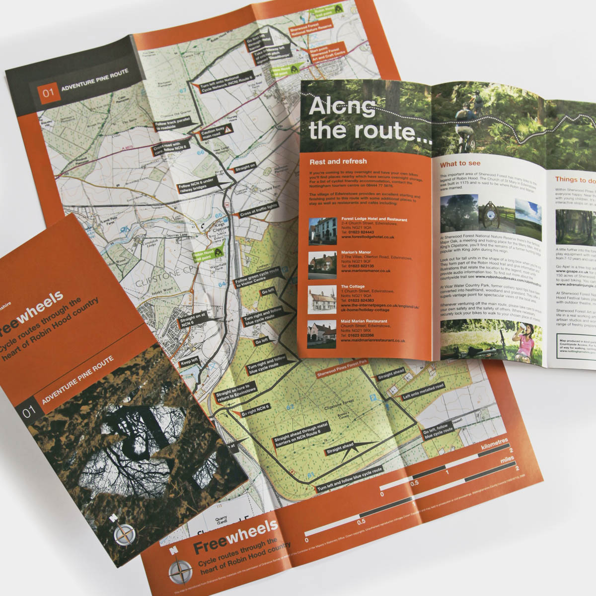 Freewheels cycle routes through Robin Hood country, Nottinghamshire bike rides