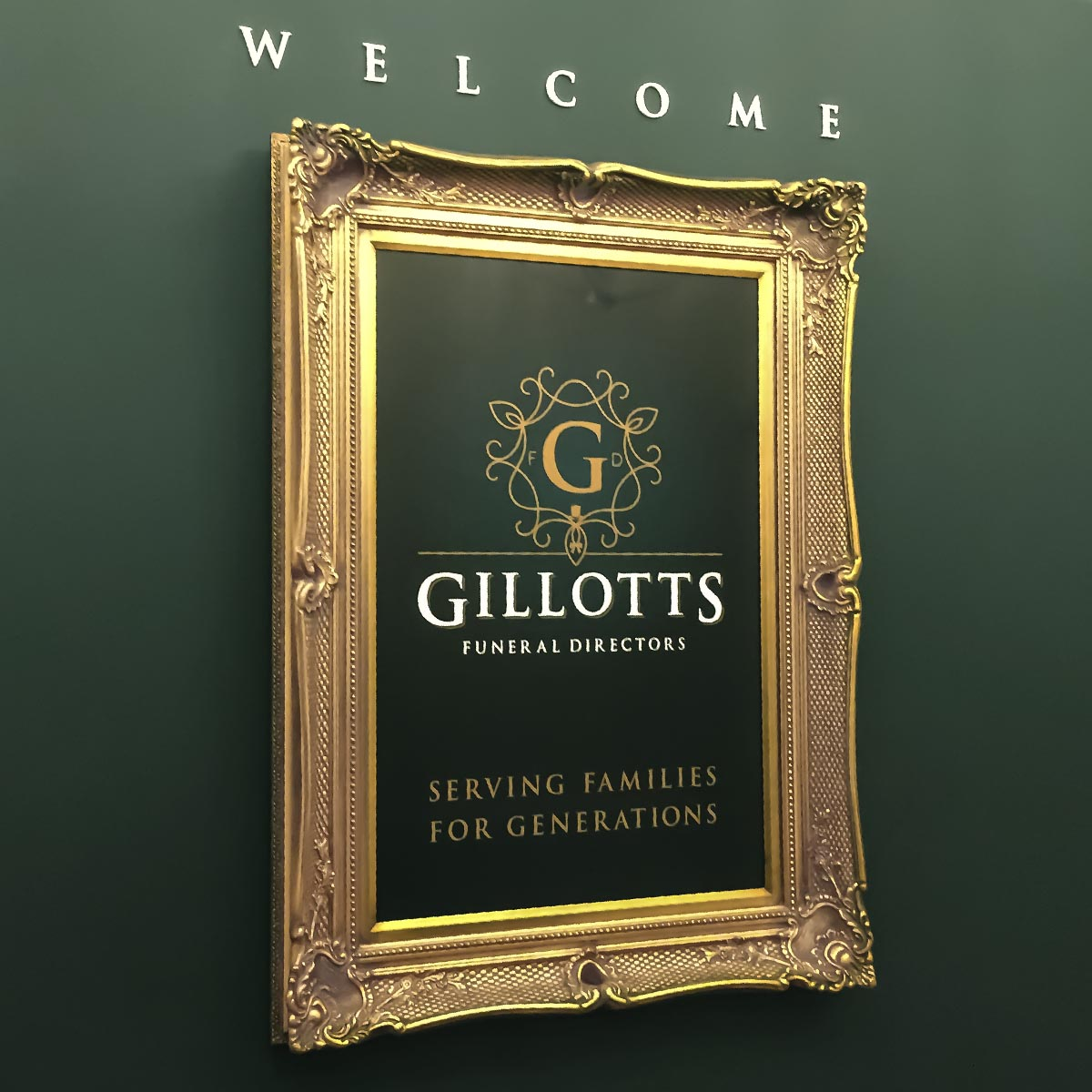 Gillotts Funeral Directors branch interior decoration