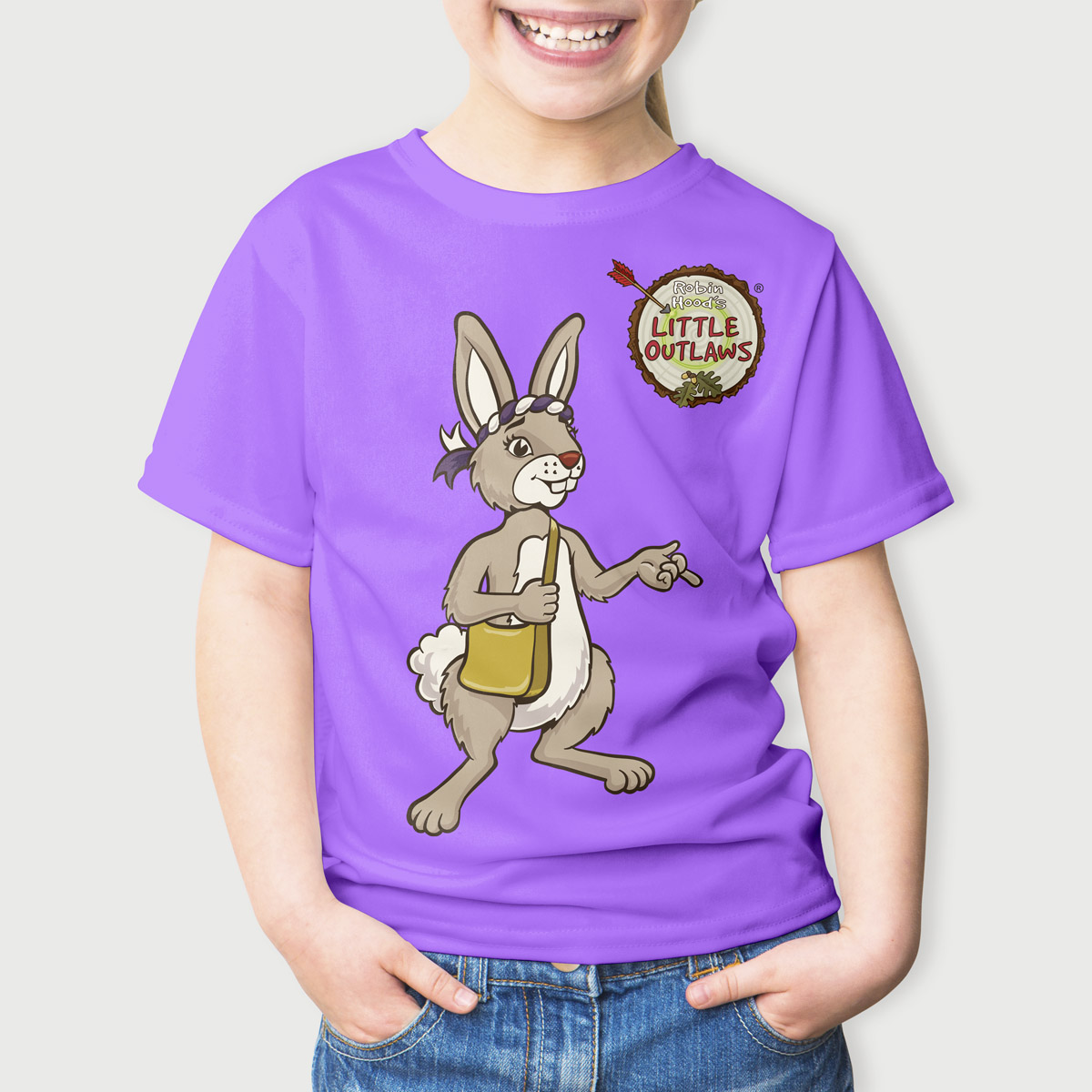 Robin Hood's Little Outlaws branded character t-shirts