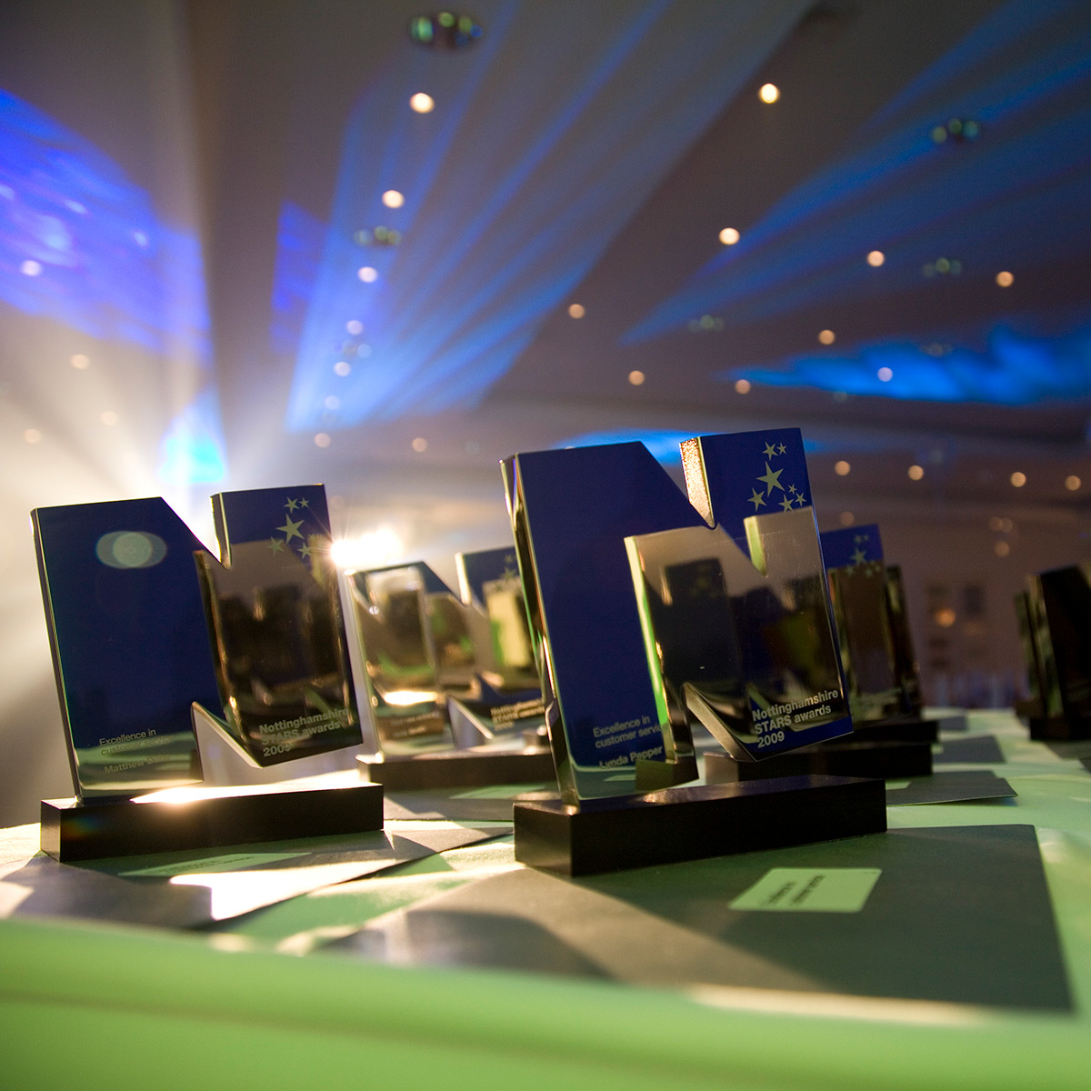 Experience Nottinghamshire Stars Awards event trophies