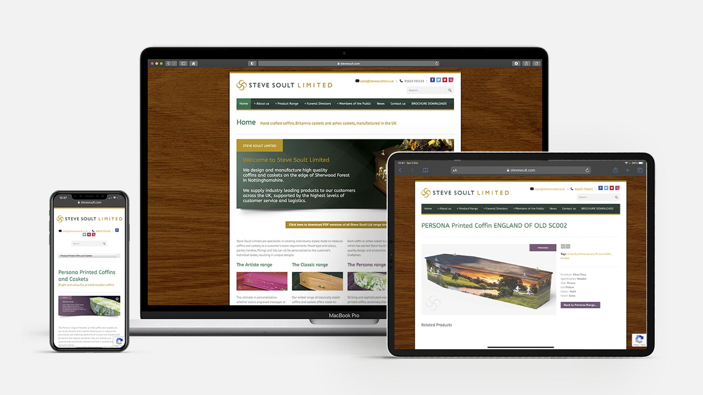 Steve Soult Limited responsive website