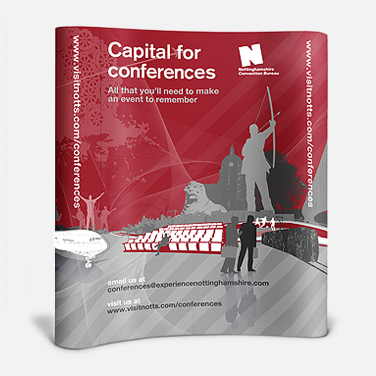 Experience Nottinghamshire Venue Directory conference banner stand